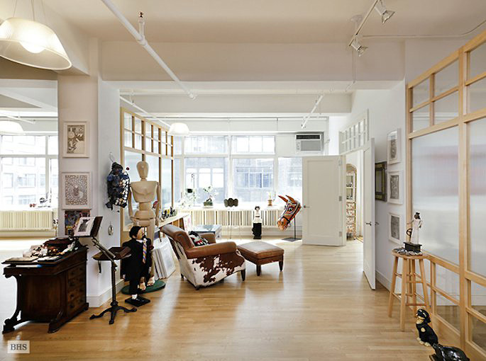 Massive Midtown West Artists Loft Combo Comes Complete With A Darkroom 6sqft