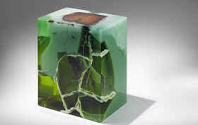 Nucleo, Jade Stools, Italian design, epoxy resin, precious furniture
