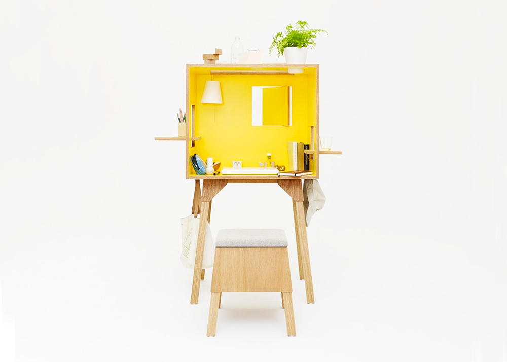 Torafu 39 s koloro is a cute and functional office wrapped up for Functional furniture