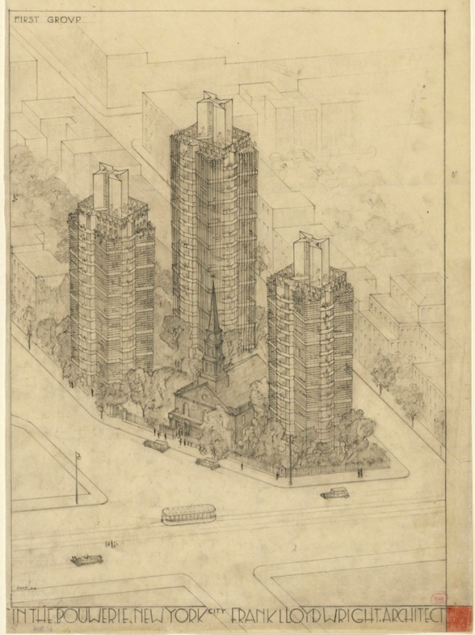 Frank Lloyd Wright Designs Destined for NYC But Never Built | 6sqft
