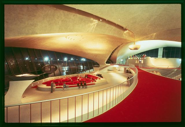 Trans World Airlines Terminal, JFK Airport,  Model;  photo courtesy of Library of Congress, Prints & Photographs Division, Balthazar Korab Archive at the Library of Congress