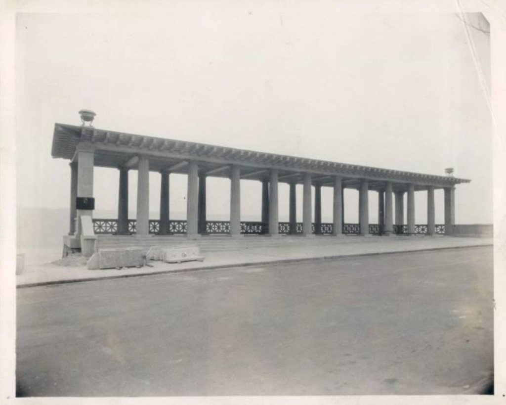 1927 image of grecian temple henry hudson, grecian temple nyc, henry hudson parkway, inspiration point nyc