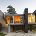Bates Masi + Architects, Northwest Harbor, East Hampton, wooden pilings, working with nature, photovoltaic panels, FEMA, crossed ventilation, daylight