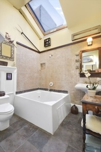 76 State Street, country architecture in Brooklyn, skylight in bathroom, two decks