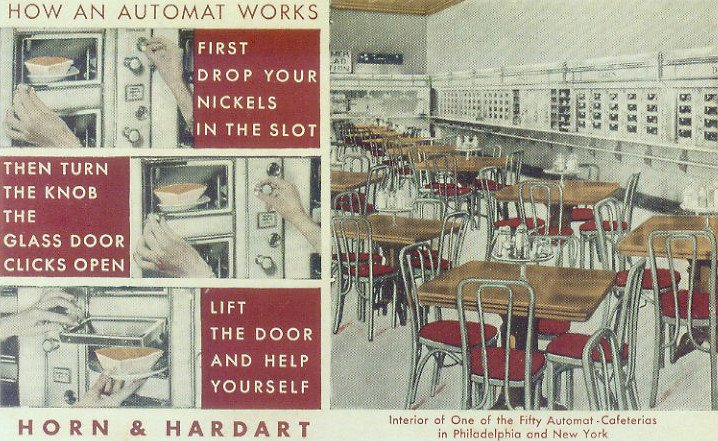 automat, horn & hardart, NYC ephemera