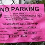 Film Shoot, Movie Set, No Parking