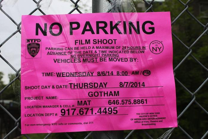 Film Shoot, Movie Set, No Parking