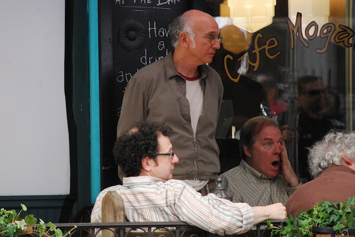 Larry David, East Village, Mogador, Movie Set, Film Shoot,