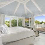 homes hamptons, famous homes for sale, tennis court hamptons, white bedroom