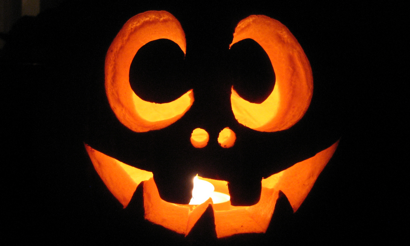 pumkin carved glowing