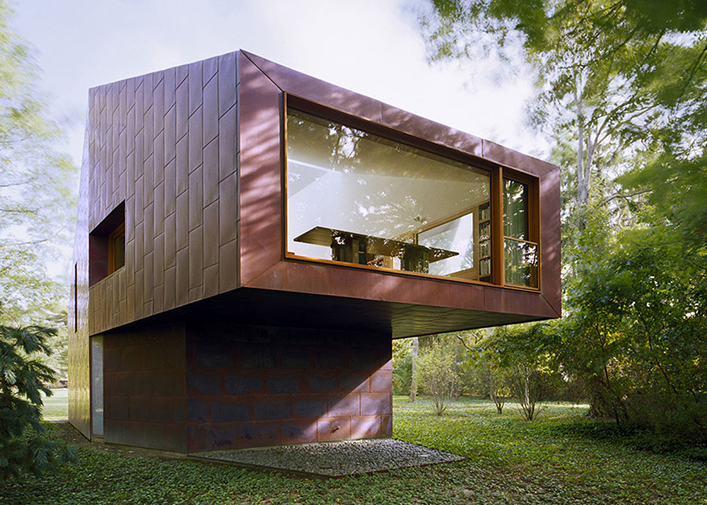 Copper Clad Writer S Cabin By Andrew Berman Changes Color