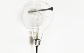 Harry Thaler, glass light fixture, edison bulb