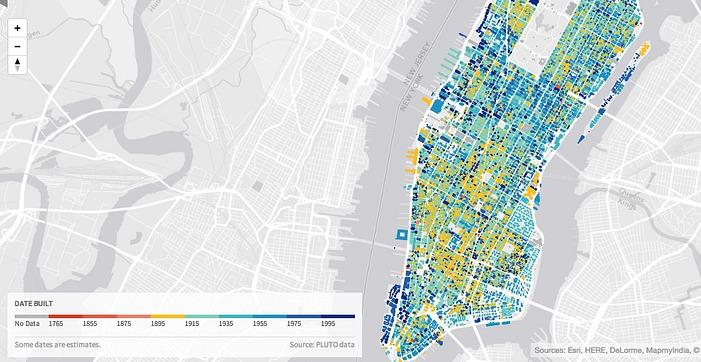 New Mapping Tool Urban Layers Tracks the Age of Every Building in