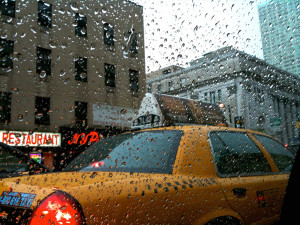 commuting nyc, hailing a cab nyc, city transit rain