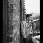 Keruac on fire escape 1953 by Allen Ginsberg