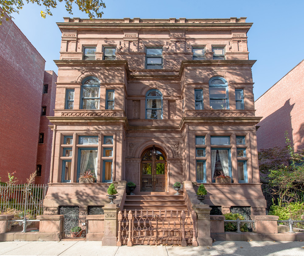 Inside the historic 6m bed stuy mansion with a for Houses for sale near nyc