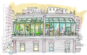 nyc greenhouse, urban greenhouse, city living, urban dwelling