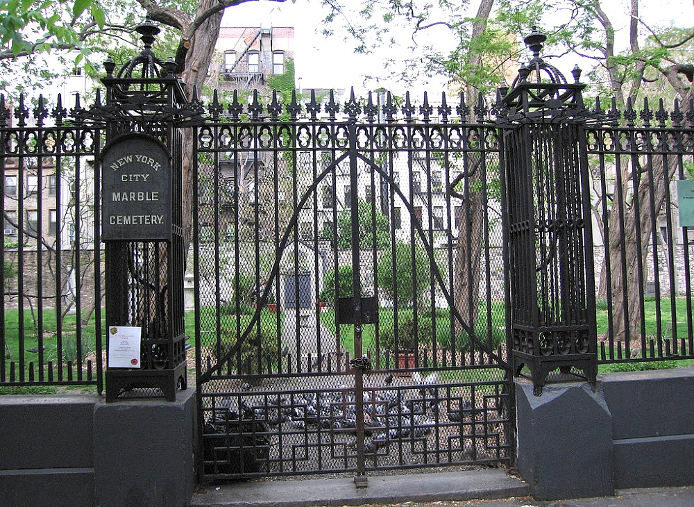 New York City Marble Cemetery, East Village history, historic NYC cemeteries
