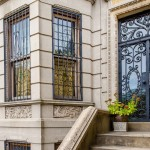 5 Plaza Street West, landmark limestone townhouse, Frederick Tyrrell architect, private gated driveway