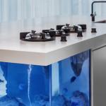Robert Kolenik, Ocean Kitchen, Corian, fish Aquarium, limited edition design, innovative fish tank, Dutch design