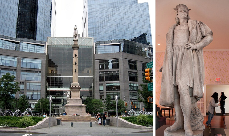 Columbus Circle, Christopher Columbus, Columbus monument NYC