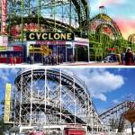 ScenePast: Americana Road Trip, vintage postcards, Coney Island Cyclone