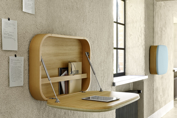 new styles 4a2a8 a7444 Nobu, Transforming Desk-Shelf Inspired by Vintage Carrycases ...
