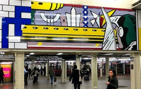 Times Square Subway, Roy Lichtenstein, NYC subway art