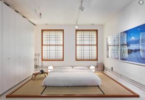 158 Franklin, Tribeca Loft, zen loft, beatles bed, eastern inspired design