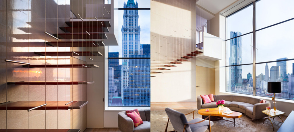 Steven Harris, floating staircase, tribeca loft renovation,