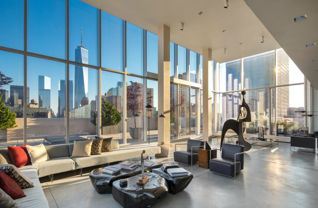 Carmelo and lala anthony step up penthouse search and tour for Tribeca property for sale