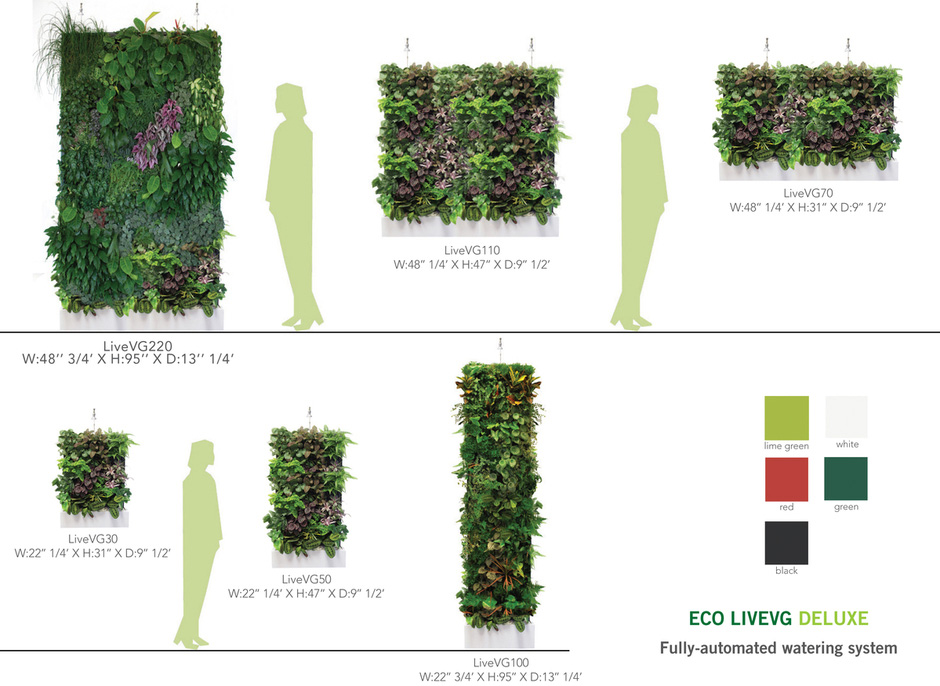 Easily outfit your home in greenery with plant wall design Green walls vertical planting systems