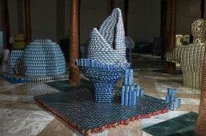 SHARKNADO - Take a Bite out of Hunger by DeSimone Consulting Engineers, canstruction 2013, canstruction 2014, canstruction