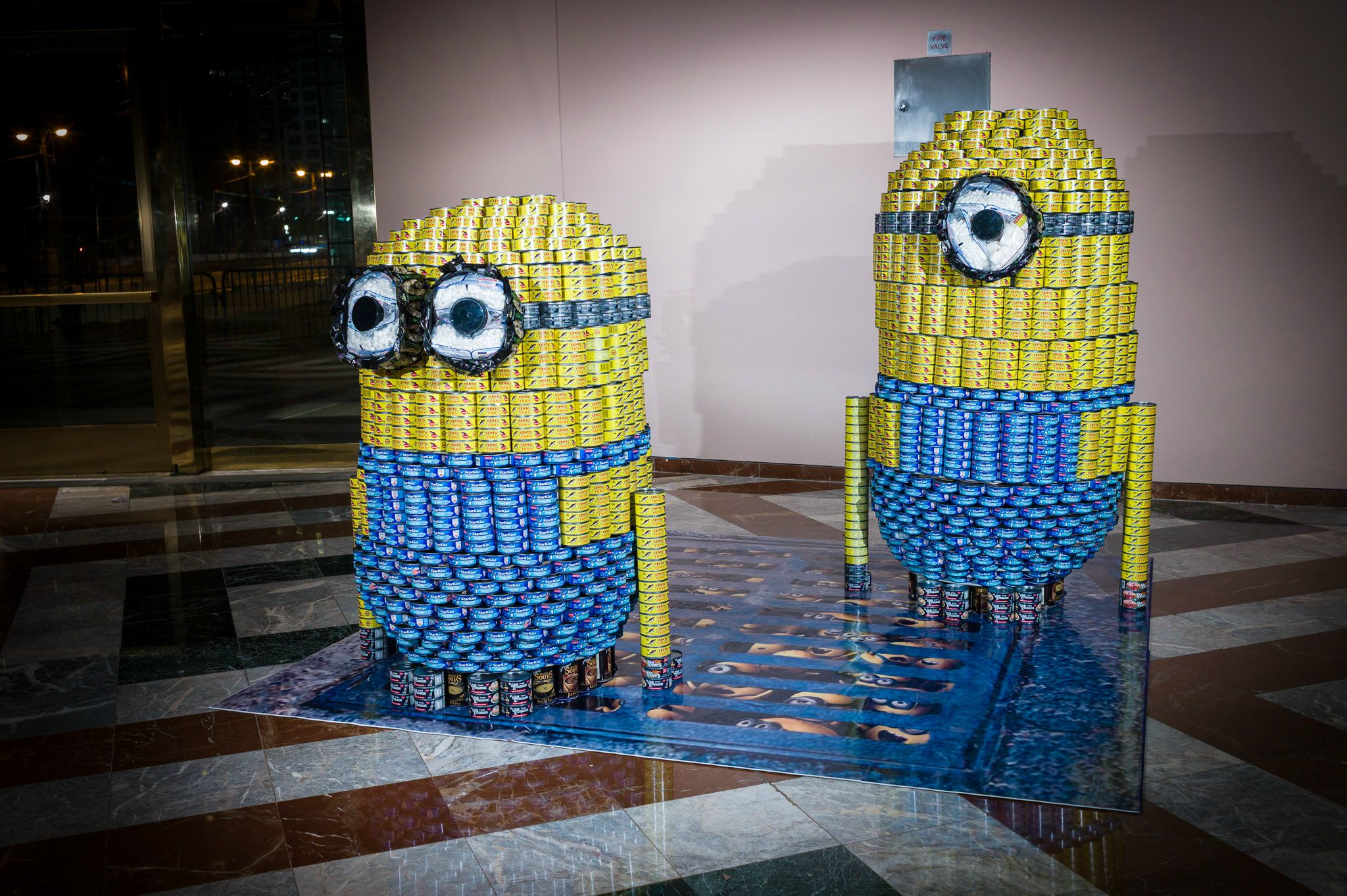 See How Top Architects Build Sculptures From 100000 Cans Of Food To