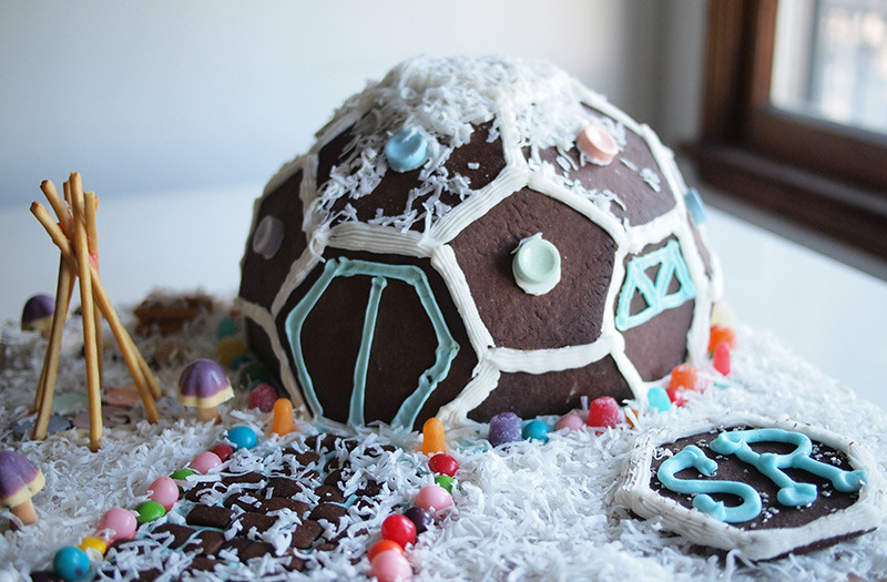 GEODESIC GINGERBREAD HOUSE, how to make a GEODESIC GINGERBREAD HOUSE
