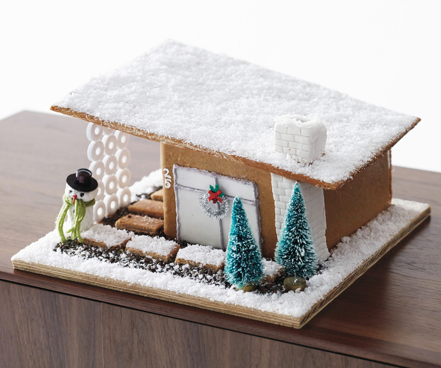 Edible real estate these amazing gingerbread houses are totally diy modernist gingerbreadhouse by design within reach solutioingenieria Choice Image