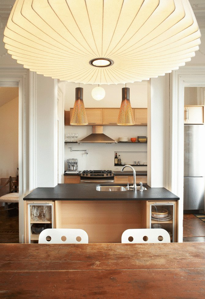 We Design 39 S Brownstone Renovation Melds The Old With Mid Century Modern Touches 6sqft