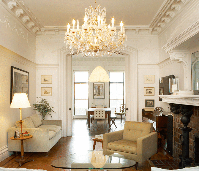 Brownstone Interior Design: WE Design's Brownstone Renovation Melds The Old With Mid