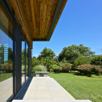 Daniels Lane, Martin Architects, Sagaponack, house extension, modern adition, cedar louvers, passive house, contrasting volumes