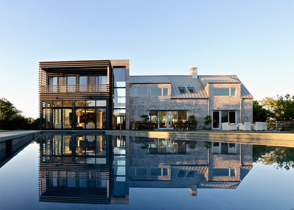 Gorgeous sagaponack stone house gets a brise soleil for Martin architects