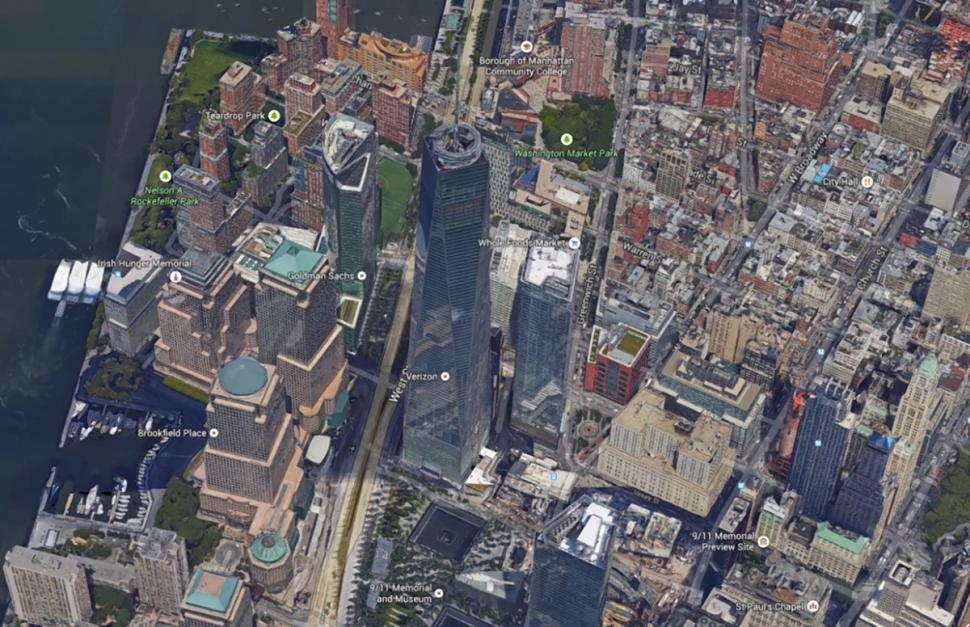 google maps one world trade center 2