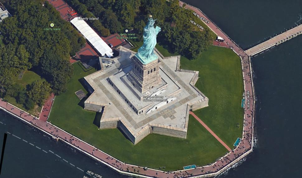 google maps statue of liberty
