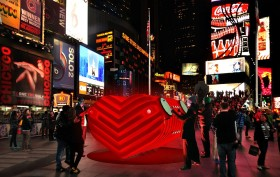 Stereotank, Heartbeat, Times Square, NYC public art