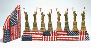 Statue of Liberty Hanukkah Lamp, modern menorahs, Jewish Museum