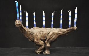 Menorahsaurus, dinosaur menorah, modern menorahs