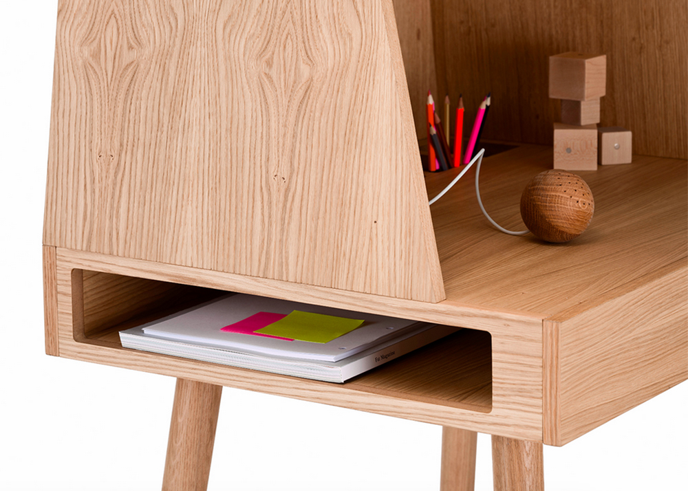 Kristina Kjær's Wooden Desk Is A Sweet Modern Design That