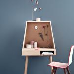 Bolia, Vilfred, Danish wooden desk, small desk, Kristina Kjær, Space Saving design, Danish furniture