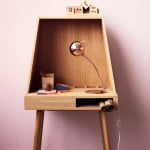Bolia, Vilfred, Danish wooden desk, small desk, Kristina Kjær, Space Saving design, Danish furniture