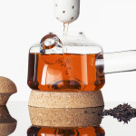 Nikolo Kerimov, minimal teapot, Upon-tea, glass, ceramic, cork, Finnish design, Aalto University, glazed teapot, tea preparation