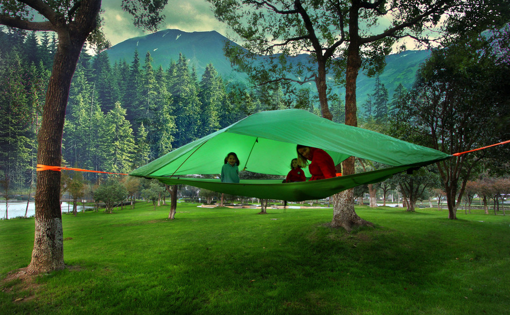 This Suspended Tent Gives New Meaning to u201cSleeping Among the Treesu201d & This Suspended Tent Gives New Meaning to